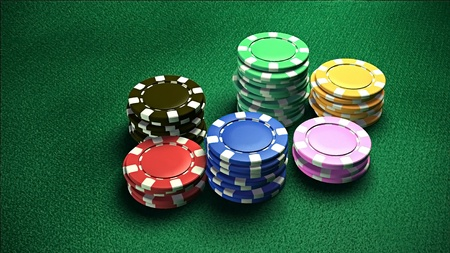 richer: The 3d rendering of difference colored casino chips