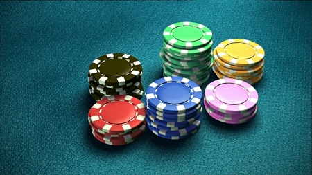 lasvegas: The 3d rendering of difference colored casino chips