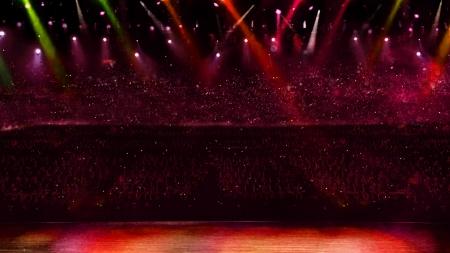 concert with red spotlight Standard-Bild