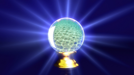 crystal ball lens flare background  Representing the mystery   fortune idea  photo