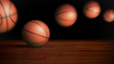 basketball on the wood floor graphic background photo