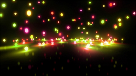 Bouncing light balls background