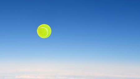 tennis ball high speed flying on the sky Stock Photo - 20678689