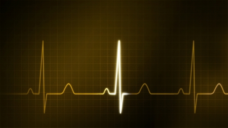 oscillate: The graphic of EKG monitor for finance theme