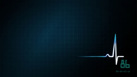 The graphic of EKG monitor for medical theme photo