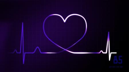 oscillate: heartbeat graphic of EKG monitor represent of love