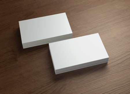 This business card presentation for promotion of Corporate identity