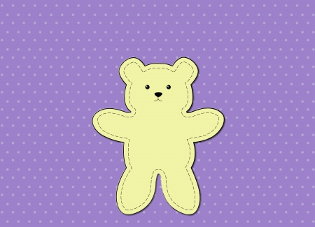 Teddy Bear greeting card use for cartoon and graphic design photo