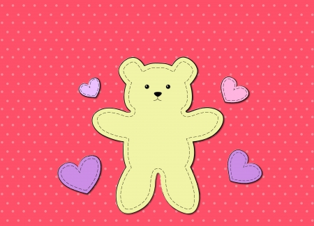 valentine s day teddy bear: Teddy Bear greeting card use for cartoon and graphic design Stock Photo