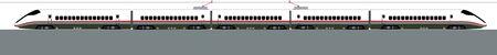 tren caricatura: Japón Shinkansen es el mundo