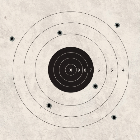 gun shoot to the shooting target concept photo