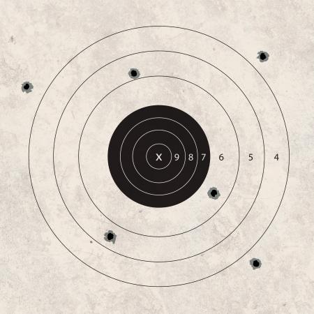 gun shoot to the shooting target concept Reklamní fotografie