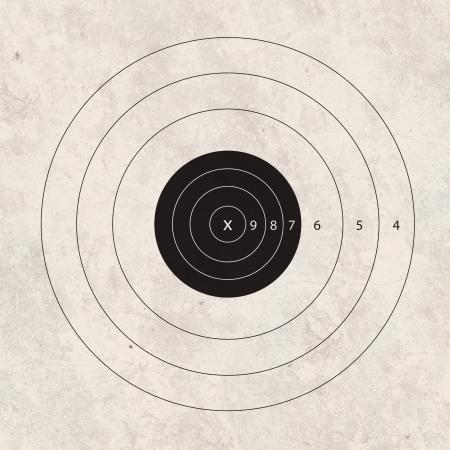 shooting target: geweer schieten op de schietbaan doelconcept Stockfoto