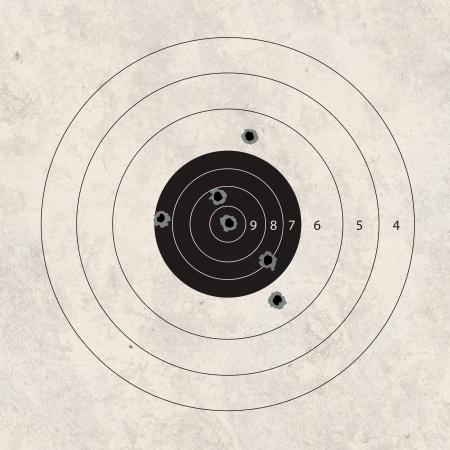 shooting target: gun shoot to the shooting target concept Stockfoto