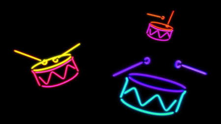 drums: the color graphic of nero light glow Stock Photo