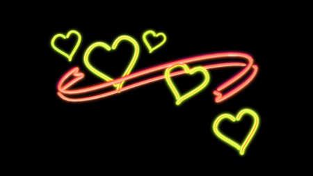 the heart graphic of nero light glow Stock Photo