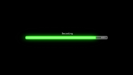decoding: Loading bar Stock Photo