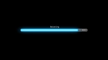 deleting: Loading bar Stock Photo