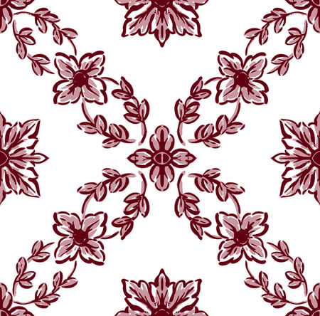 unlimited: Classical flower graphic for unlimited repeat to larger pattern