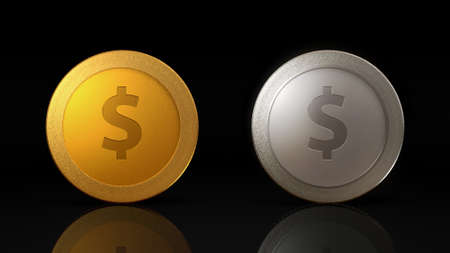 The digital currency coin of peer-to-peer for capital transaction Stock Photo - 27780377