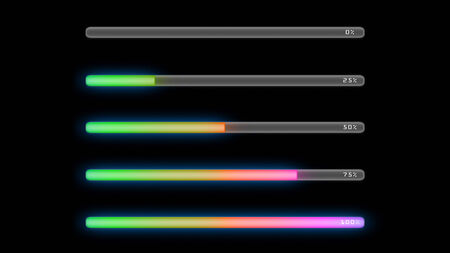 the colorful bar line representing the process of loading photo