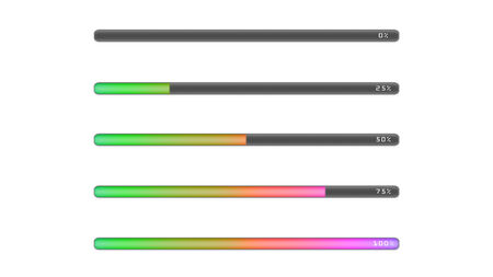 deleting: the colorful bar line representing the process of loading