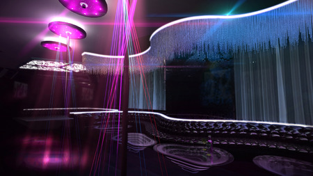 the nightclub for luxury karaoke party lighting  photo