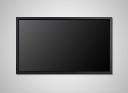 lcd tv: blank on the monitor display, it is representing the entertainment concept