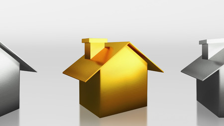 The 3D render image of investment the gold house photo