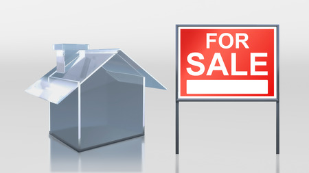 3d render of investment glass house for sale photo