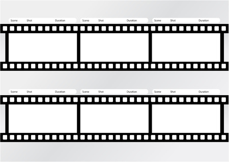 Professional of film storyboard template for easy to present the process of story. Stock Illustratie