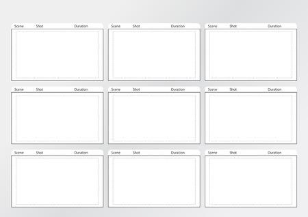 gran angular: Profesional de la plantilla de storyboard para la pel�cula f�cil de presentar el proceso de la historia.