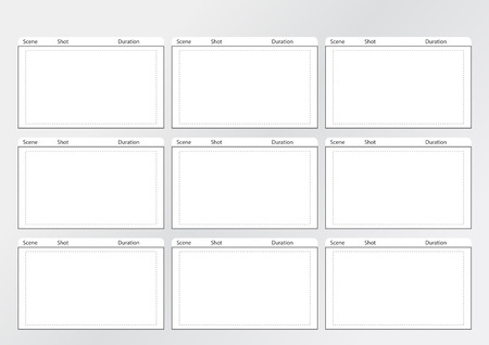 Professional of film storyboard template for easy to present the process of story. Illustration
