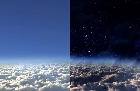 time lapse: day and night seperate screen concept