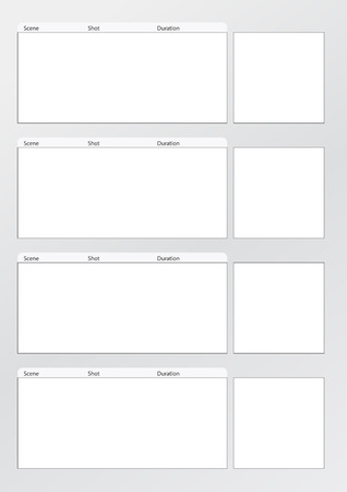 Professional of film storyboard template 向量圖像