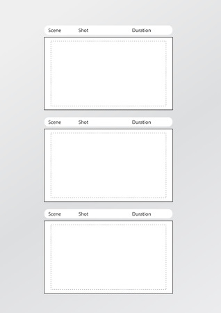 longshot: Professional of film storyboard template Illustration