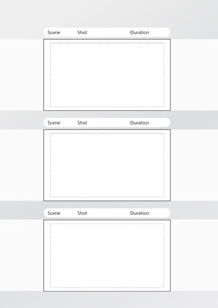 longshot: Professional of film storyboard template for easy to present the process of story. Illustration