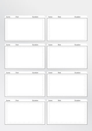 storyboard: Professional of film storyboard template Illustration