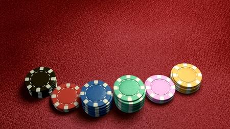 fichas de casino: La representaci�n 3D de color diferencia fichas de casino