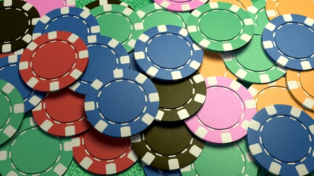 fichas de casino: The 3d rendering of difference coloured casino chips