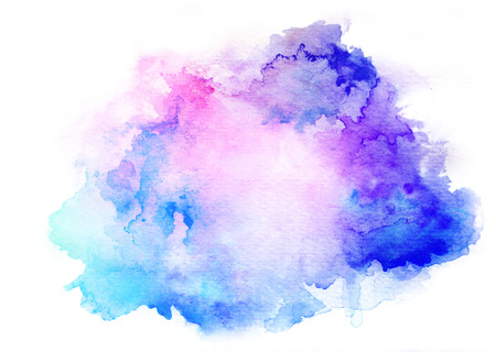 Colorful watercolor drawing for use in artistic background Stock Photo