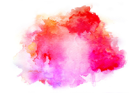 Colorful watercolor drawing for use in artistic background Фото со стока