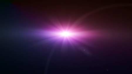 special effect: space star flare magenta color lens flare special effect Stock Photo