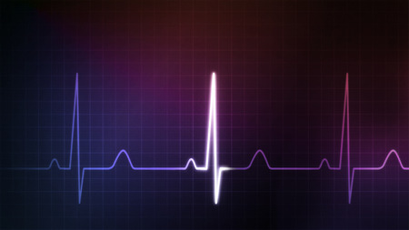 medical illustration: The graphic of EKG monitor for medical theme