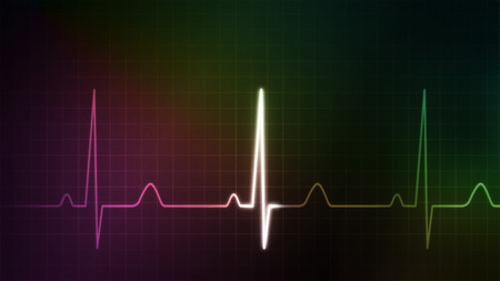 oscillate: The graphic of EKG monitor for medical theme