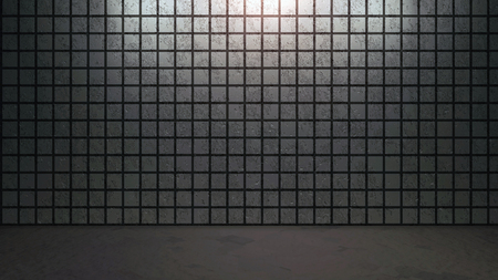 decorative wall: the brick background with abstract pattern arrangement