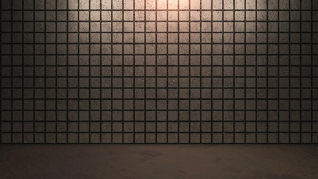 bathroom wall: the brick background with abstract pattern arrangement