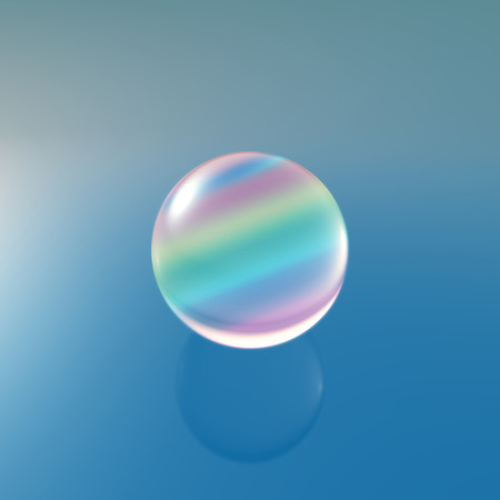 gemstones: Transparent glass ball on background with crystal material