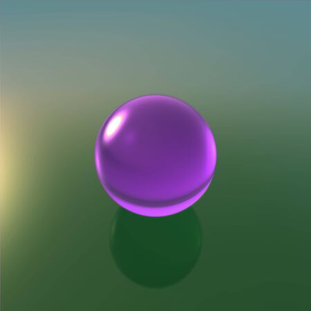 crystal glass: Transparent glass ball on background with crystal material
