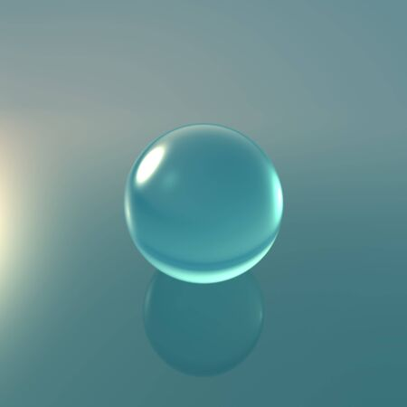 fortuneteller: Transparent glass ball on background with crystal material